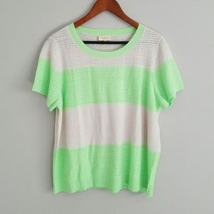 NWOT ModCloth striped short sleeve sweater 2X